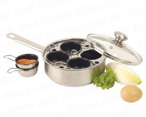 Gourmet Pfanne mit 4 Schüsseln 18 cm